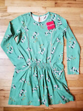 NWT HANNA ANDERSSON GREEN GARDEN SMOCKED FLORA FLORAL DRESS 160 14 NEW!