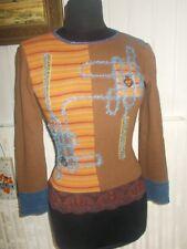 Top chemisier tee-shirt SAVE THE QUEEN 36/38 logo métal tissu brillant stretch