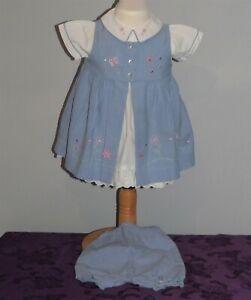 Ladybird, babies blue dress, age 3 to 6 months