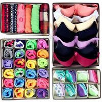 Organizer Underwear Closet Drawer Box Divider Socks Ties Bra Storage Cases new