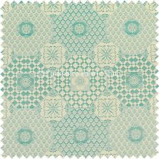 Lightweight Chenille Damask Pattern Furnishing Upholstery Curtain Fabrics Teal