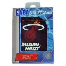 NBA Miami Heat Playing Cards Deck 52 Standard Size Game Poker Black Fan Sport