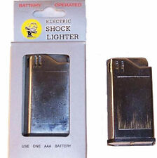 SQUARE SHOCKING silver  LIGHTER cigarette shock toys jokes gags trick fake play