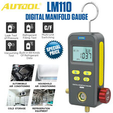 Refrigeration Digital Hvac Meter Single Manifold Gauge Vacuum Pressure Temp Test