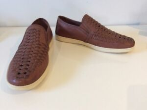 Laurence Crockett Men's Leather Shoes Loafers New Size 42