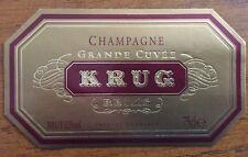 Une étiquette de champagne Krug La Grande Cuvée - 75 cl