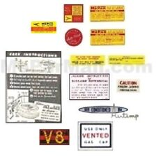 Underhood & Trunk Decal Set for 1957 DeSoto - Chrysler - Imperial