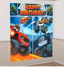 Blaze and The Monster Machines Party Scene Setter Boys Birthday Wall Poster, 5pc