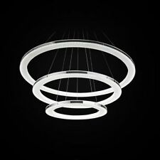 Modern Fashion Drop 3 Rings LED Acrylic Metal Chandelier Pendant Light Ceiling