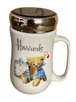 NEW HARRODS TRAVEL MUG COFFEE TEA CUP LID WORK HOT COLD DRINKS CHRISTMAS GIFT