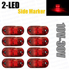 8x Red LED Side Marker Light Truck Car SUV Trailers Lorry Caravan Indicator Lamp