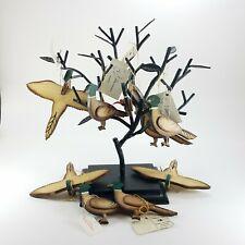 Wilderness Woods Vintage Christmas Ornaments Handmade Rustic Birds Pheasants