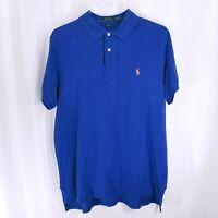 Polo Ralph Lauren Mens Collared Short Sleeve T Shirt Blue Size XL