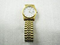 MENS BULOVA Gold Colored Watch w/ Date *Works*