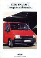1014FO Ford Transit Prospekt 1990 8/90 Transporter deutsche Ausgabe brochure
