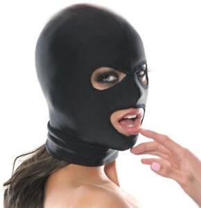 3 Loch Spandex Stoff Kopf Maske Kopfmaske Bondage
