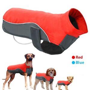 Pet Dog Comfort Padded Fleece Vest Waterproof Casual Coats Jacket Outdoor New