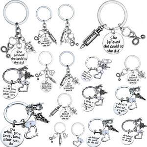 Charm Doctor Nurse Key Chain Keyring Jewellery Medical Graduation Gifts Keychain