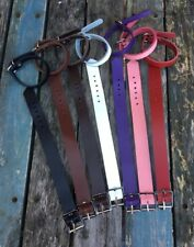 Real Leather Plain Bracelet Strap Choice of Colours & Width 10mm, 19mm Handmade