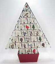 Wood Christmas Tree Advent Count Down Calendar 25 Empty Drawers Holiday Decor