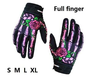 Ghost hand MTB XC Road Bike Full Finger Glove Cycling racing Sports Gloves Pink