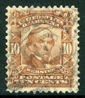 USA 1902 Webster 10¢ Red Brown Scott # 307 VFU I955 ⭐⭐⭐⭐⭐⭐