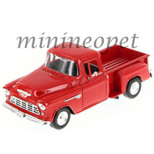 MOTORMAX 73236 1955 55 CHEVY 5100 STEPSIDE PICK UP TRUCK 1/24 DIECAST RED