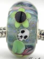 Belladonna Skull Mandy Ramsdell .925 silver european charm bead lampwork glass