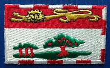 Prince Edward Island PEI Flag Patch Embroidered Iron On Applique