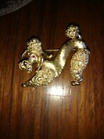 1950's Monet Gold Tone French Poodle Brooch