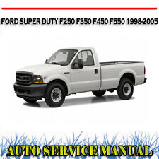 FORD SUPER DUTY F250 F350 F450 F550 1998-2005 WORKSHOP SERVICE MANUAL ~ DVD