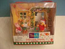 Pooh Friendly Places Playset Holiday Edition 1999 EXCELLENT COLLECTIBLE FRIENDS