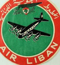 1940's-50's Air Liban Luggage Label Vintage Original E11