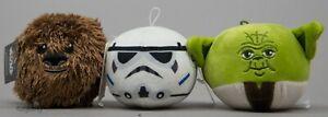 Hallmark Disney Star Wars Yoda Chewbacca Stormtrooper Fluffballs Ornaments