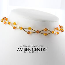 Italian Handmade German Amber Necklace/Choker in 18ct Gold GN0106 RRP£1950!!!