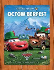 "TIN-UPS Walt Disney Tin Sign ""Cars Ok-tow-berfest"" Movie Ride Art Poster"
