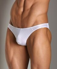 "Good Devil Horizontal Lines Jock Strap White M14 ""Large"""