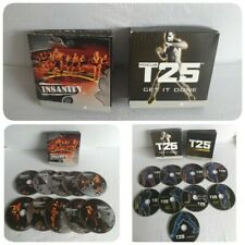 INSANITY WORKOUT BEACHBODY + T25 FOCUS DVD BOXSETS SHAUN T FITNESS DVDS