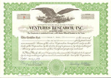 Ventures Research > old stock certificate share scripophily low serial #2