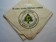 CAMP COWAN CASE SCOUT RESERVATION RARITAN COUNCIL 28TH YEAR NECKERCHIEF D46