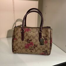 NWT Coach F88563 Mini Signature Surrey Satchel with Victorian Floral Print