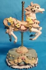 Heritage House Melodies County Fair Collection Musical Carousel Horse Plays.