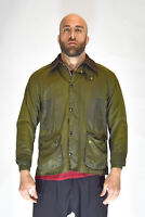 BARBOUR BEDALE Giubbotto Verde Stile Casual In Cotone Acrilico TG C40/M Uomo Man