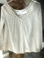 BA&SH T0 STUK blouse REVERSIBLE tunique BRODERIE DENTELLE  36 38 UK 6 8 tunik