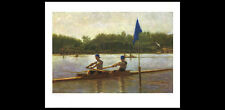 Classic Pairs Sculls Rowing TURNING THE STAKE Philadelphia 1872 Art Poster Print
