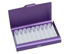 Taschenapotheke Homöopathie Alu Etui für 9 Globuli Röhrchen violett *NEU*