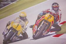 Barry Sheene Kenny Roberts Racing Japanese Motorbike Motorcycle Birthday Card