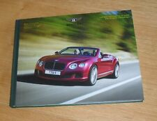 Bentley Continental GT Speed Coupe & Convertible Hardback Brochure 2013-2014 UK