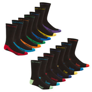 Mens Novelty Socks 7 Pairs Pack Multipack Days Of The Week Fathers Day Gift Idea