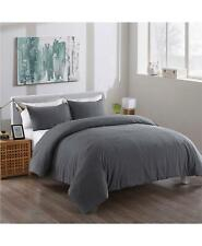 Messy Bed Washed Cotton 3 Pc Full/Queen Duvet Cover Set Gray $170